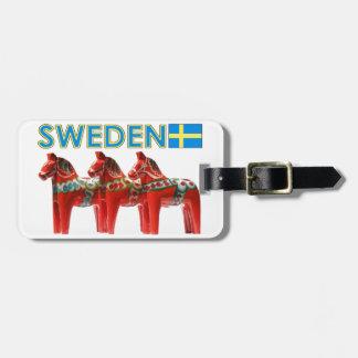 Sweden Dala Horses Luggage Tag