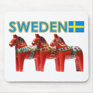 Sweden Dala Horses Mousepad
