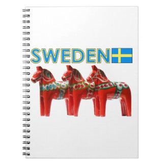 Sweden Dala Horses Spiral Notebooks