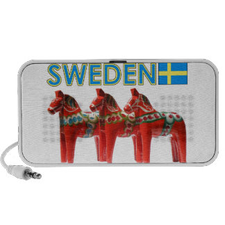 Sweden Dala Horses Laptop Speaker