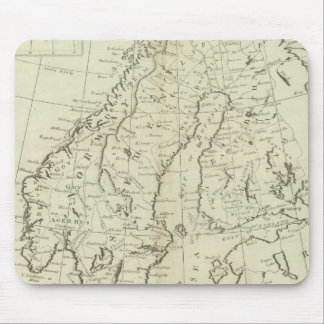 Sweden, Denmark, Norway, and Finland Mouse Pad
