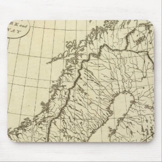 Sweden, Denmark, Norway outline Mouse Pad