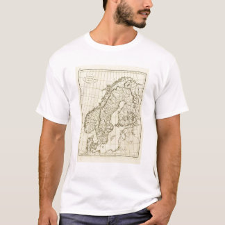 Sweden, Denmark, Norway outline T-Shirt