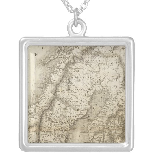 Sweden, Denmark, Norway Silver Plated Necklace
