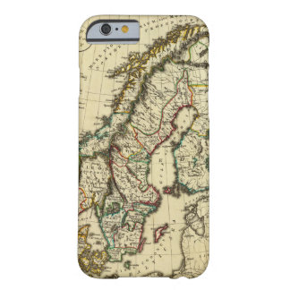Sweden, Denmark, Norway with boundaries outlined Barely There iPhone 6 Case