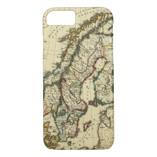 Sweden, Denmark, Norway with boundaries outlined iPhone 7 Case
