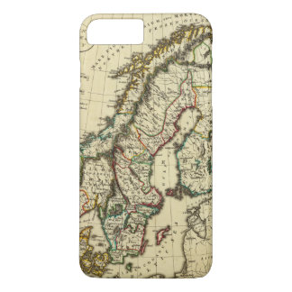 Sweden, Denmark, Norway with boundaries outlined iPhone 7 Plus Case