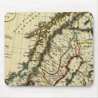Sweden, Denmark, Norway with boundaries outlined Mouse Pad