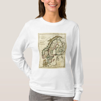 Sweden, Denmark, Norway with boundaries outlined T-Shirt