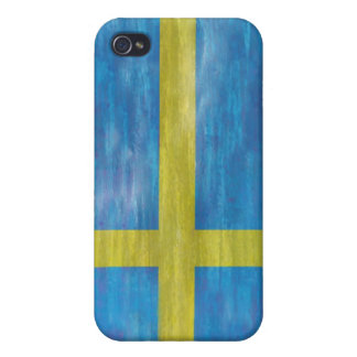 Sweden distressed Swedish flag iPhone 4/4S Covers
