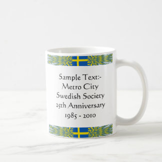 Sweden eText ~ Flagcolor Map Mug