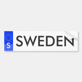 Sweden European Union License Sticker Car Bumper Sticker