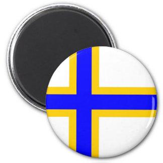 Sweden Finns People Flag 2 Inch Round Magnet