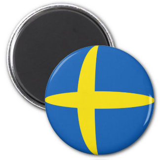 Sweden Fisheye Flag Magnet