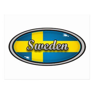 Sweden flag 1 postcard