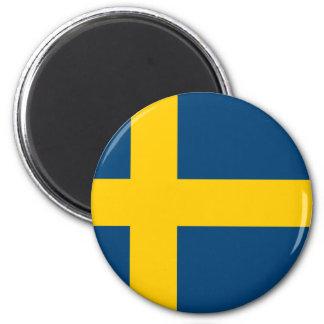 Sweden Flag 2 Inch Round Magnet