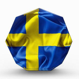 Sweden Flag Acrylic Award