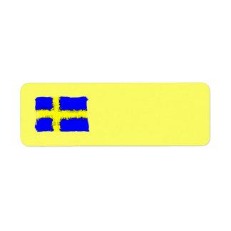 SWEDEN FLAG Address Label