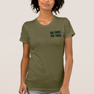 Sweden Flag and Map dk T-Shirt