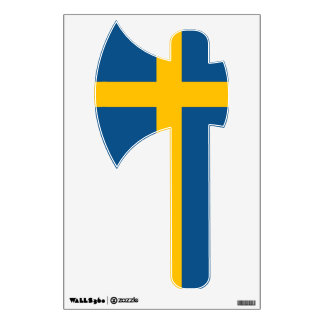 Sweden Flag AXE Wall Sticker