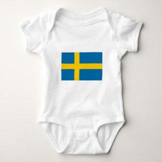 Sweden Flag Baby Bodysuit