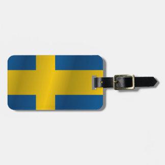 Sweden flag bag tag
