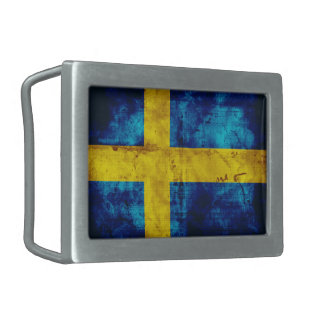 Sweden Flag Belt Buckles