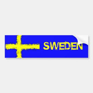 SWEDEN FLAG Bumper Sticker Car Bumper Sticker