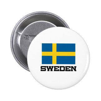 Sweden Flag Pinback Button