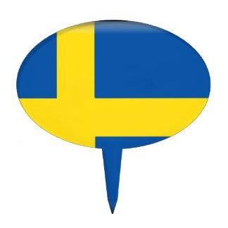 Sweden Flag Cake Picks