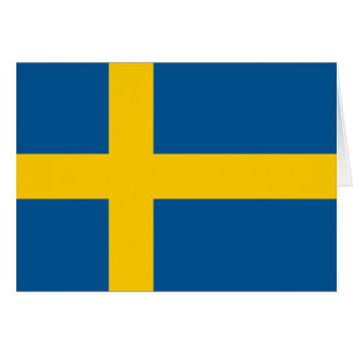 Sweden Flag Card