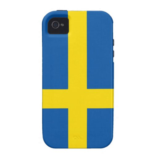 Sweden Flag Case-Mate iPhone 4 Covers