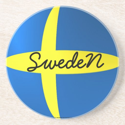 Sweden flag coaster