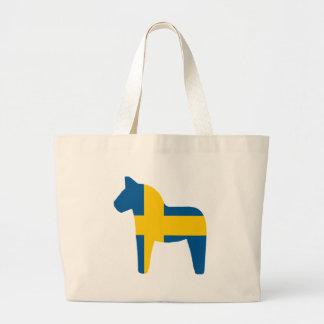 Sweden Flag Dala Horse Bags