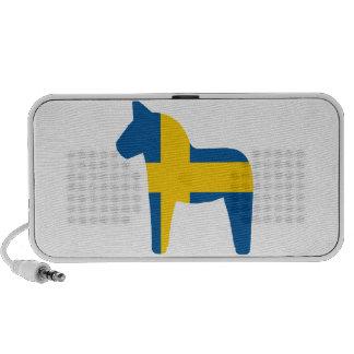 Sweden Flag Dala Horse iPod Speakers