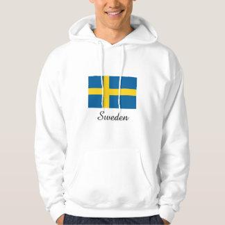 Sweden Flag Design Hooded Sweatshirt