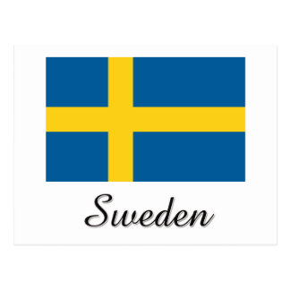 Sweden Flag Design Postcard