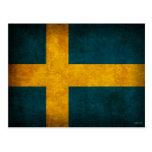 Sweden Flag Distressed Postcards