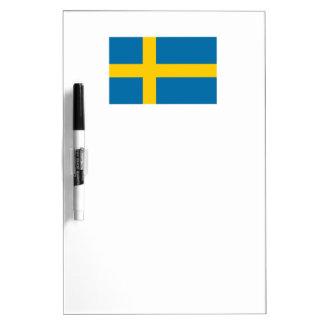 Sweden Flag Dry-Erase Board