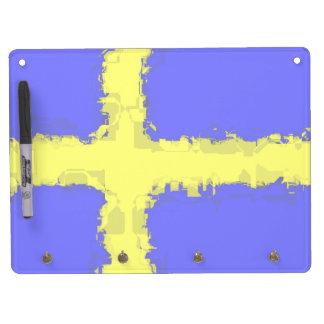 SWEDEN FLAG Dry Erase Board