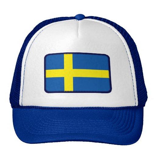 Sweden flag embroidered effect hat