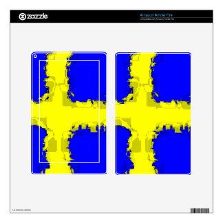 SWEDEN FLAG eReader Skin Skin For Kindle Fire