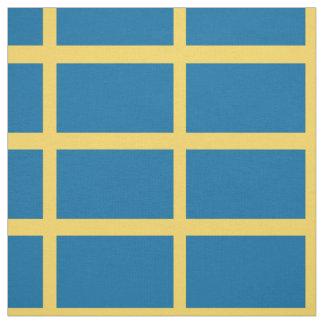 Sweden Flag Fabric
