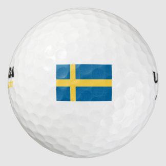Sweden Flag Golf Balls