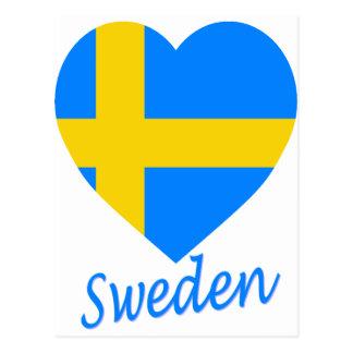 Sweden Flag Heart Postcard