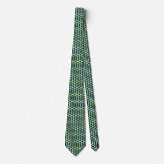 Sweden Flag Honeycomb Tie