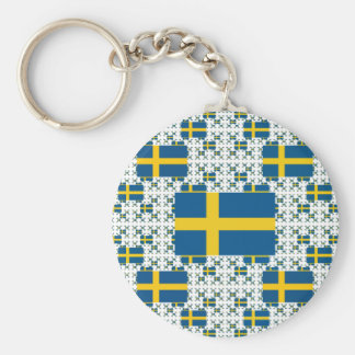 Sweden Flag in Multiple Layers Keychain