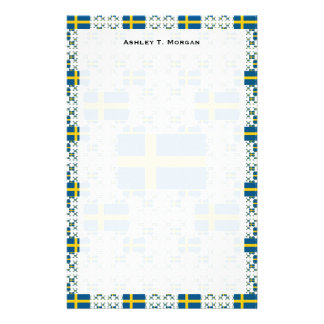 Sweden Flag in Multiple Layers Stationery