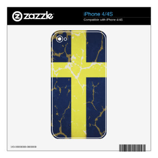 Sweden Flag iPhone 4S Decal