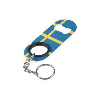 Sweden Flag Keychain Bottle Opener
